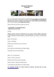 Mais informações - Direcção Regional de Cultura do Norte