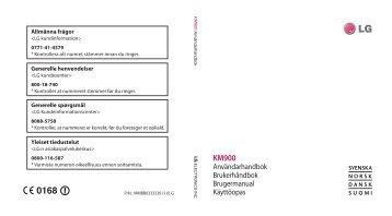 Användarhandbok Brukerhåndbok Brugermanual ... - NetOnNet