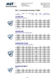 BLV - Leuchtmittel Preisliste 11/2007 - MLT - Moderne Licht-Technik ...