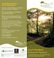 Local Woodland Enterprise Network - South Downs National Park ...