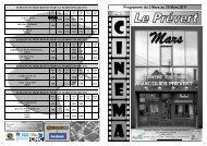 Programme du 2 Mars au 29 Mars 2011