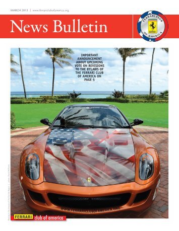 March 2013 | NEWS BULLETIN - the Ferrari Club of America