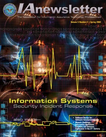 Vol 5 No 1 - IAC - Defense Technical Information Center