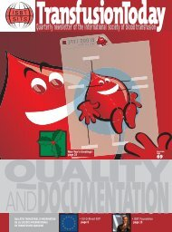 Quarterly newsletter of the international society of blood transfusion
