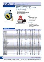 Mitteldruck-Radialventilatoren Gehäuse und ... - Dassler GmbH