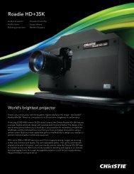 Roadie HD+35K - Christie Digital Systems