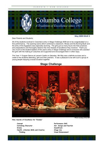Issue 3 - May 2009 (pdf 1.2 MB) - Columba College