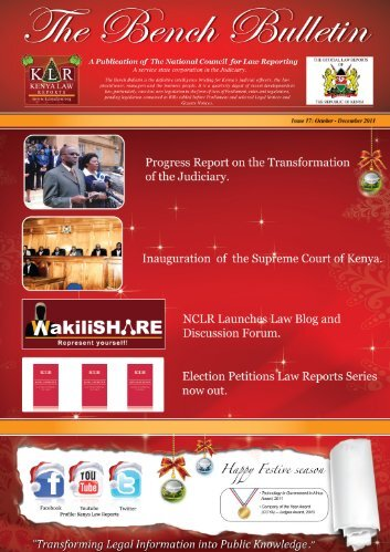 Bench Bulletin - Issue 17 - Kenya Law Reports