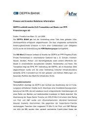 Presse und Investor Relations Information - Hypo Real Estate ...