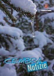Numero 12 - Dicembre 2011 - Comune di Cembra
