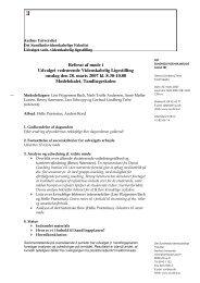 Referat af møde i Udvalget vedrørende Videnskabelig - Aarhus ...