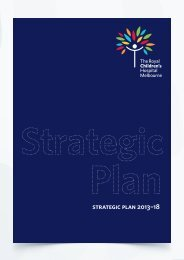 RCH Strategic Plan - The Royal Children's Hospital