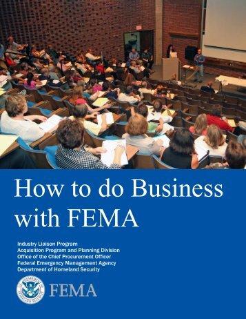 FEMA-How to do Business - Federal Emergency Management Agency