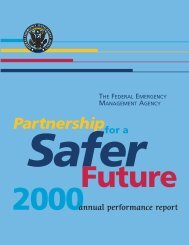 Partnership for a Safer Future, FY2000 Annual Performance Report