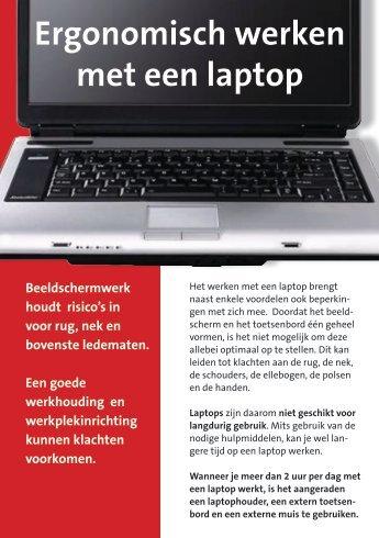 Ergonomisch werken met een laptop - Bestuurszaken