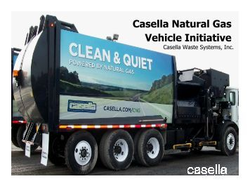 Peter Vanderhoof, Casella Waste Systems, Inc. - Granite State ...