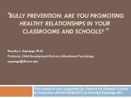 Dorothy Espelage, PhD. - Bully Prevention