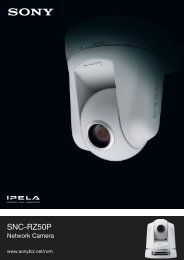 Sony SNC-RZ50P IP cameras product datasheet - SourceSecurity.com