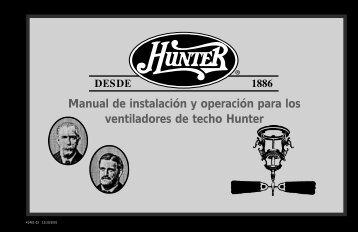 Manual de instalación y operación para los ... - Hunter Fan