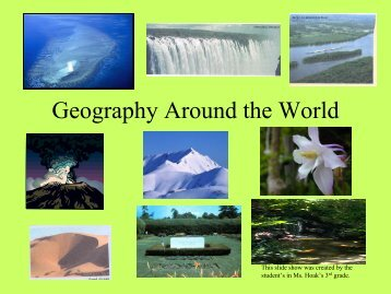 Geography Around the World Slide Show - gst boces