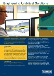 Engineering Umbilical Solutions - Oceaneering