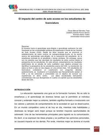 D I R E C T O R I O - Foro de Estudios en Lenguas Internacional