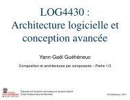 Cours 7 - Composition et architectures par composants 1