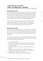 Kapitel 1. Utvärdering av metoder i hälso- och sjukvården ... - SBU