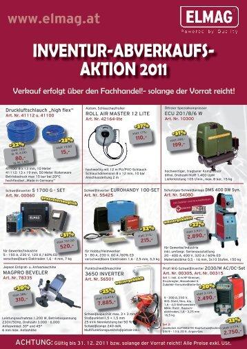 INVENTUR-ABVERKAUFS- AKTION 2011