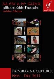 Programme de novembre - décembre 2011 - Alliance éthio ...