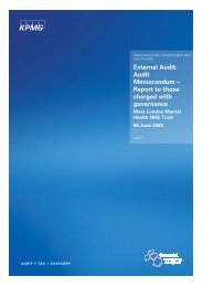 Annual audit letter 2007/2008 - West London Mental Health NHS Trust