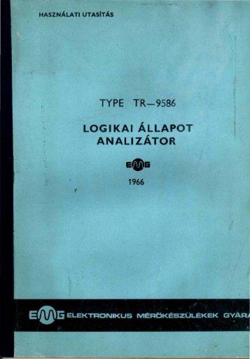 EMG 1966 LOGIKAI ÁLLAPOT ANALIZÁTOR használati utasítás