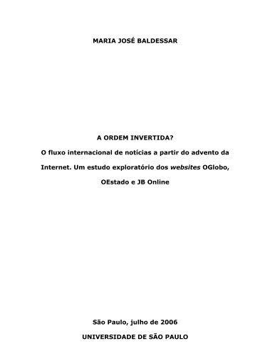 "MARIA JOSe BALDESSAR A ORDEM INVERTIDA"" O ... - ECA-USP"