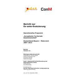 Bericht zur Ex-ante-Evaluierung - Interreg Österreich-Bayern