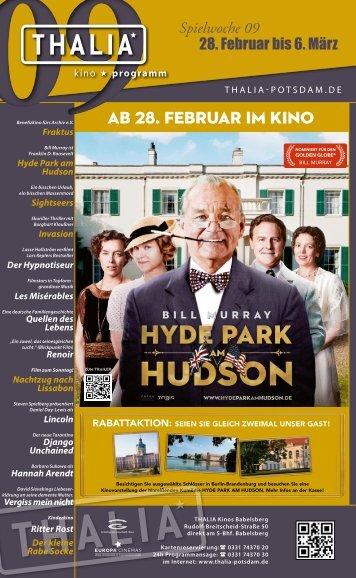 AB 28. FEBRUAR IM KINO - Thalia Kino
