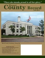 Missouri County Record Fall 2012 (pdf) - Missouri Association of ...