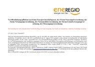 2013 NNE § 19 Abs. 2 Satz 1 StromNEV - Umlage - Eneregio