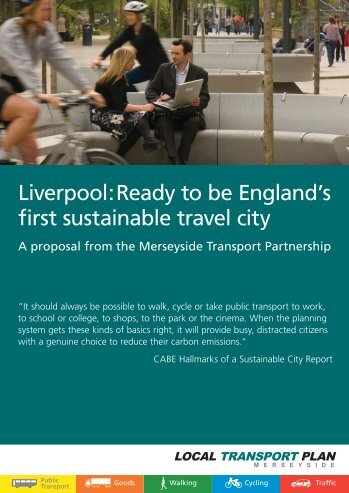 Sustainable Travel City - the TravelWise Merseyside website