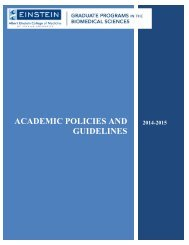 Academic Policies and Guidelines - Albert Einstein College of ...