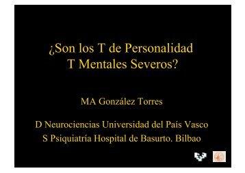 ¿el trastorno de personalidad es un trastorno mental severo?