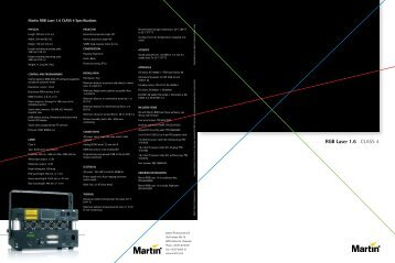 Martin RGB Laser 1.6  CLass 4 specifications