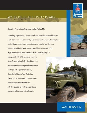MIL-DTL-53030 Water-Reducible Epoxy Primer - Sherwin-Williams ...