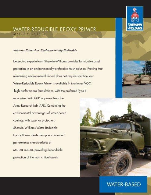 MIL-DTL-53030 Water-Reducible Epoxy Primer - Sherwin-Williams ...