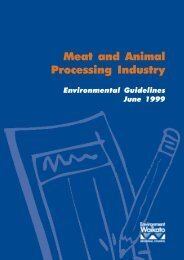 Meat and animal processing industy - Environmental guidelines