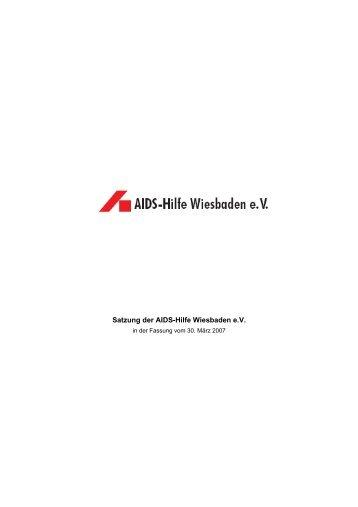 Bitte lesen Sie hier die Satzung (pdf). - AIDS-Hilfe Wiesbaden