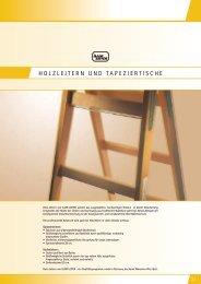 HOLZLEITERN UND TAPEZIERTISCHE - Iller-Leiter