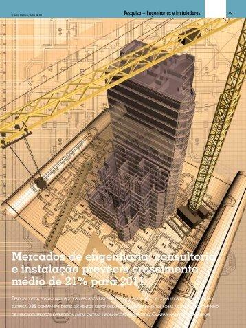 Mercados de engenharia, consultoria e instalação prevêem ...
