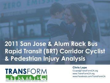 Pedestrian Accidents in San Jose - TransForm
