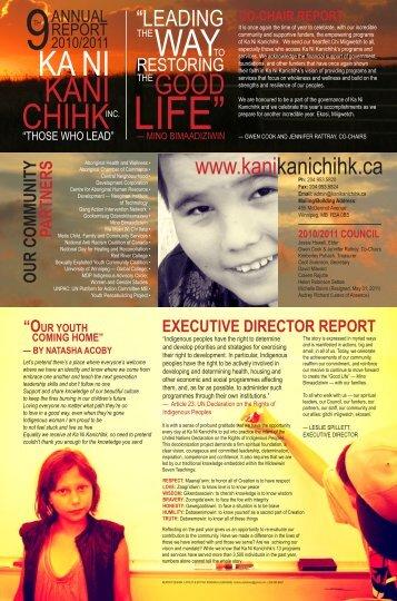 2010-2011 Annual Report - Ka Ni Kanichihk