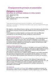 Enseignements primaire et secondaire - APIMA